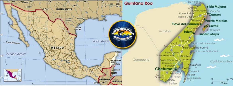 map – Captain Rick\'s Sportfishing Center Riviera Maya Mexico